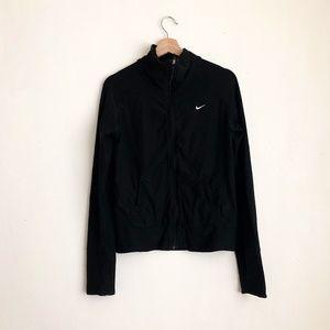 Nike sweater black zippered down small workout